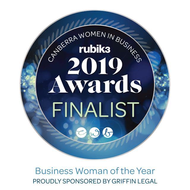 Finalist in Canberra Women in Business Awards